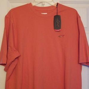 MENS NWT LARGE TSHIRT GREG NORMAN ORANGE